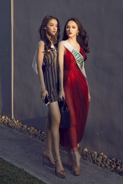Hương Giang đầy năng lượng tại cuộc thi Hoa hậu Chuyển giới Quốc tế - 2