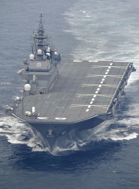 Tàu sân bay trực thăng Izumo. Ảnh: Kyodo News