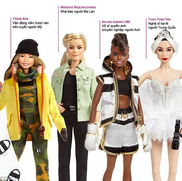 """Công ty sản xuất đồ chơi Mattel nổi tiếng với dòng búp bê Barbie huyền thoại đã vừa tuyên bố đưa vào sản xuất loạt búp bê """"Inspiring Women"""" vào đúng Ngày Quốc tế Phụ nữ."""