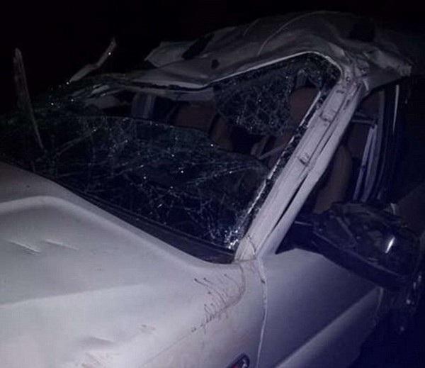 Chiếc xe của Himanshu bị hư hại nghiêm trọng sau vụ tai nạn dẫn đến tình trạng chết não của anh