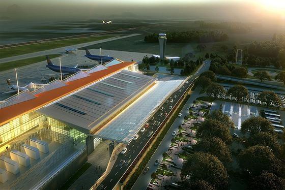 Đường băng sân bay Vân Đồn đang thành hình.