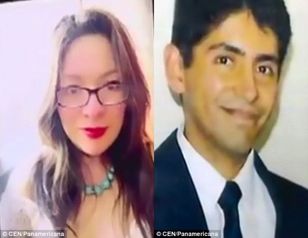 Ruben Valera Cornejo (phải) bị bắt giữ vì nghi gây ra cái chết cho người vợ Yubitza Llerena (trái)