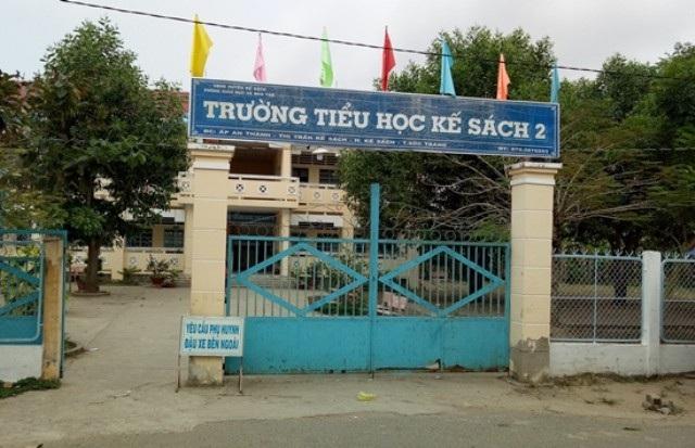 Trường Tiểu học Kế Sách 2, nơi ông Nguyễn Thành Trang công tác.