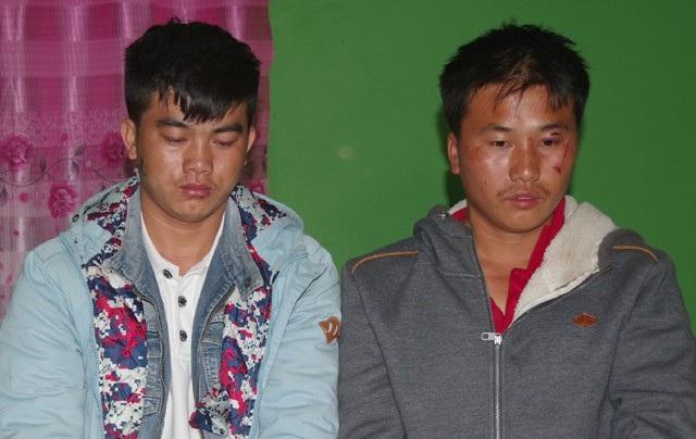 Hai anh em Chơ Già, Chăn Già tại Công an tỉnh Xiêng Khoảng (ảnh BĐBP cung cấp)