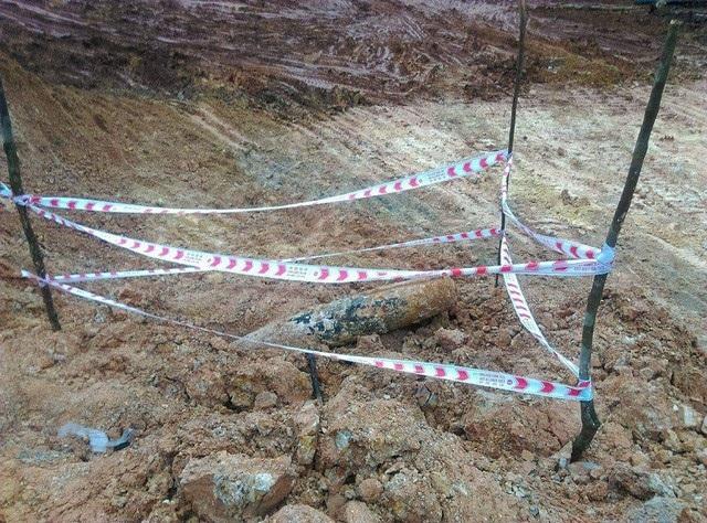 Một quả bom còn sót lại trong chiến tranh được phát hiện ở Quảng Bình