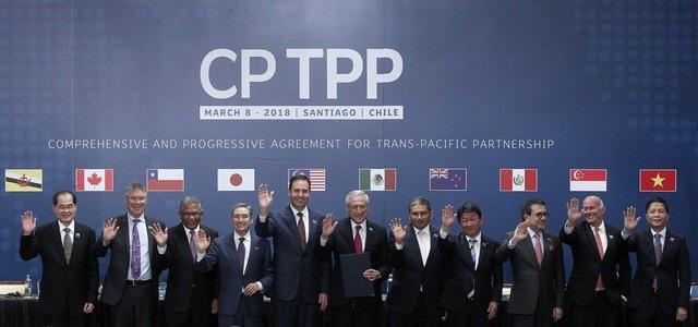 11 nước tham gia lễ ký Hiệp định CPTPP TẠI Santiago - Chile ngày 8/3 (ảnh: AFP)