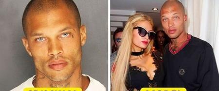 """Sau khi cơ quan cảnh sát Stockton đăng tải hình ảnh của tù nhân Jeremy Meeks lên mạng xã hội, Meeks nhanh chóng được đặt biệt danh là tên tội phạm đẹp trai. Và sau khi ra tù, Meeks đã trở thành một người mẫu đắt show và thậm chí còn cặp kè với Chloe Green, con gái """"rượu"""" của ông chủ hãng Topshop."""
