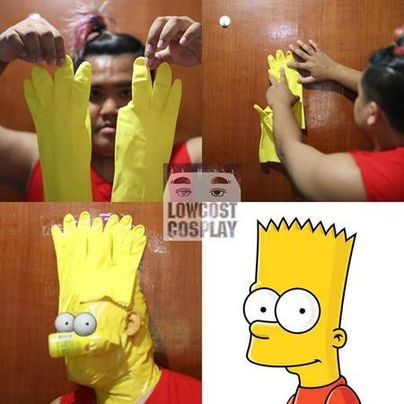 Diện mạo ấn tượng của Bart Simpson hóa ra được tạo nên từ găng tay cao su