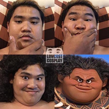 """Màn hóa thân thành nhân vật Maui trong """"Moana"""" của Sangchart bất ngờ nhận được đánh giá cao"""