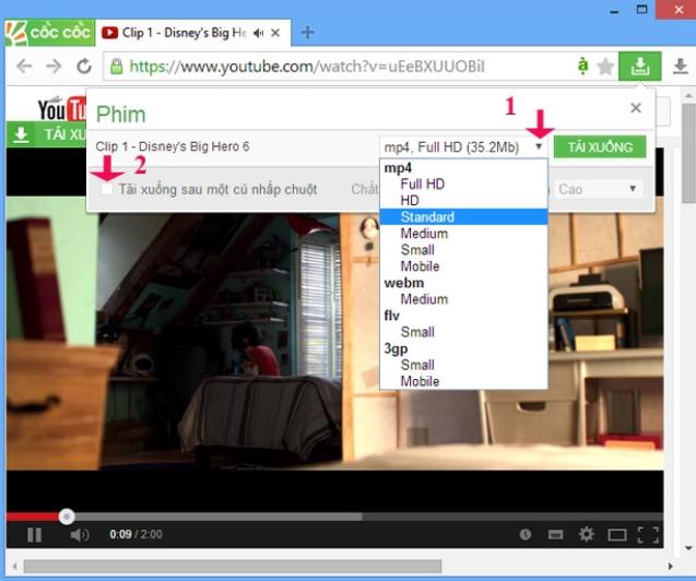 Tải video trực tiếp từ trình duyệt là một trong những tính năng được người dùng yêu thích nhất trên Cốc Cốc.