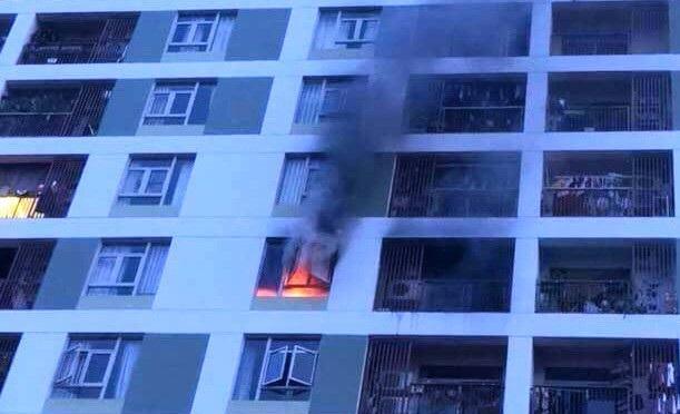 Cận cảnh căn hộ xảy ra hỏa hoạn tài chung cư ở quận 2, TPHCM.