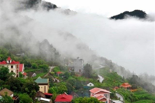 Tam Đảo thơ mộng trong sương sớm.