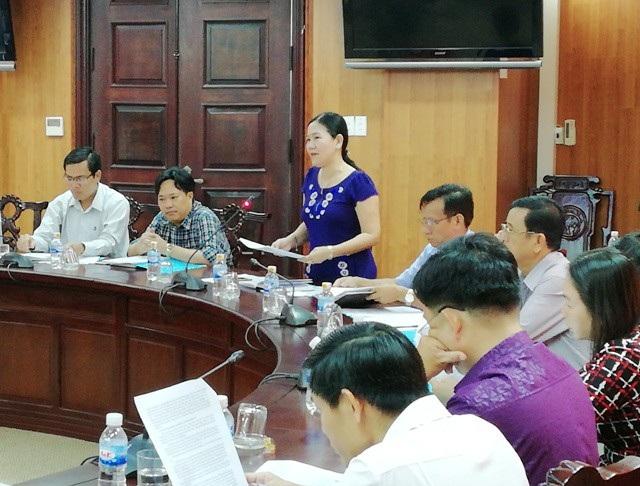 Bà Lê Hồng Thu - Phó Chủ tịch UBND TP Bạc Liêu đề nghị xây dựng quy chế quản lý các điểm du lịch trên địa bàn tỉnh Bạc Liêu để tránh chồng chéo.