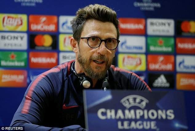 Trả lời họp báo trước trận, HLV Di Francesco khẳng định AS Roma sẽ chiến đấu hết mình trước Barcelona trên sân nhà