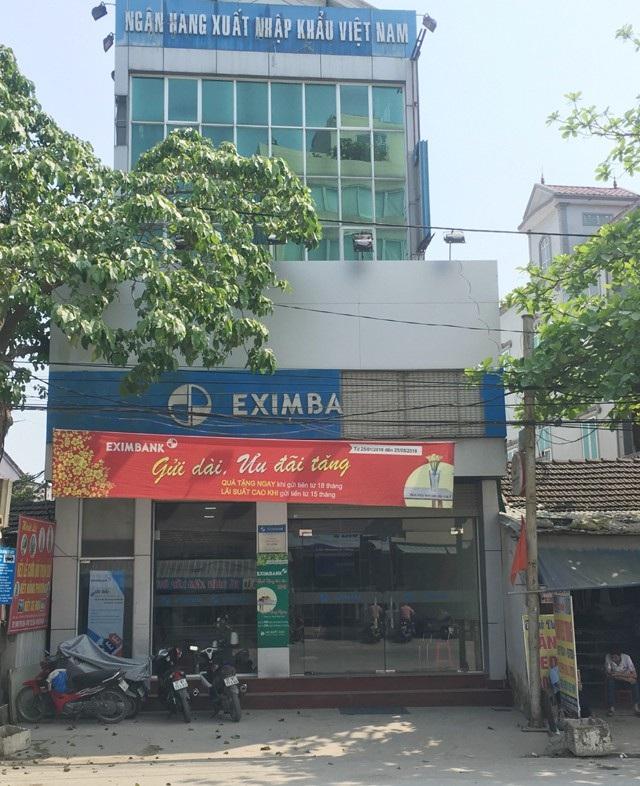 Phòng giao dịch Eximbank Đô Lương - nơi Nguyễn Thị Lam làm việc và thực hiện hành vi lừa đảo chiếm đoạt hơn 50 tỷ đồng của ngân hàng qua các tài khoản tiết kiệm của khách