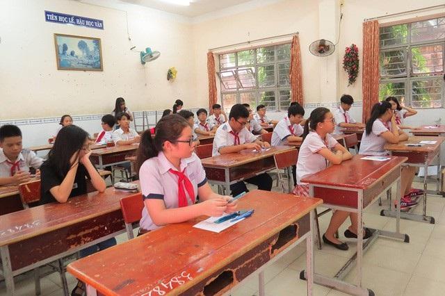 Học sinh tại TPHCM trong kỳ tuyển sinh lớp 10 năm 2017-2018