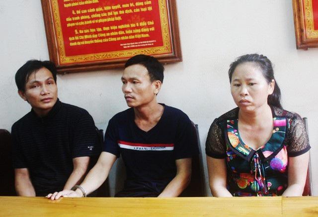 3 đối tượng mua bán người bị Công an huyện Tương Dương (Nghệ An) bắt giữ