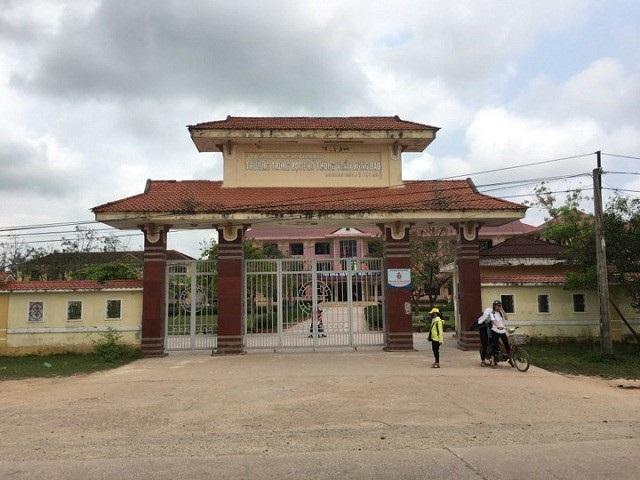 Trường THPT Trần Hưng Đạo, nơi xảy ra sự việc