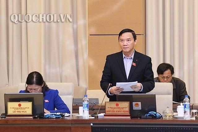 Chủ nhiệm UB Pháp luật Nguyễn Khắc Định nêu quan điểm góp ý luật
