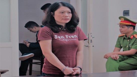 Bị cáo Hương tại phiên tòa xét xử