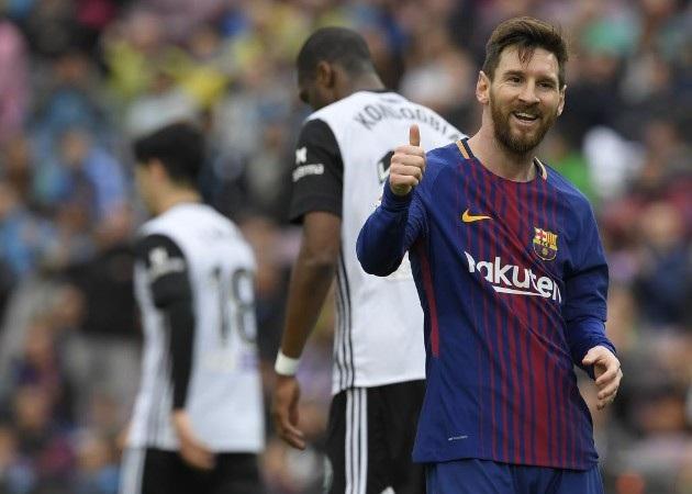 Messi thi đấu khá nhạt nhòa trong hiệp 1