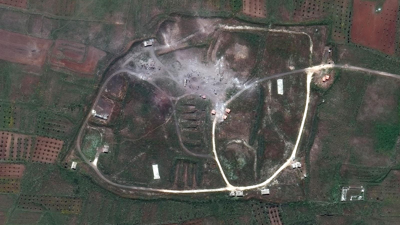 Các địa điểm của Syria bị phá hủy thế nào sau cuộc không kích? - 2