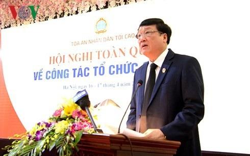 Chánh án TAND Tối cao Nguyễn Hoà Bình (Ảnh: VOV).