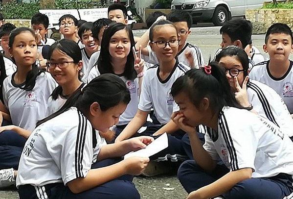 Học sinh bậc THCS ở Q.3, TPHCM