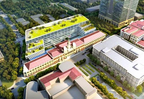 Phối cảnh trụ sở HĐND - UBND TPHCM sau khi xây dựng mở rộng và nâng cấp (nguồn: Sở Quy hoạch và Kiến trúc TPHCM)