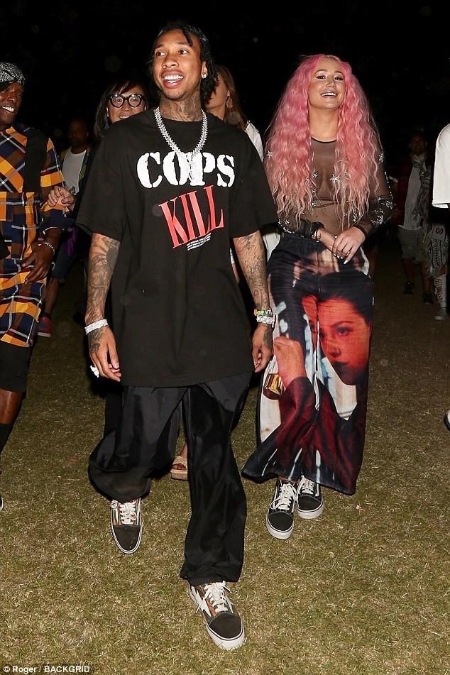 Tyga và Iggy Azalea ngày thứ 3 liên tiếp cùng nhau dự liên hoan âm nhạc Coachella diễn ra ở Mỹ