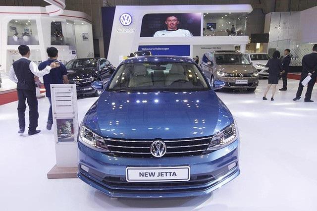 Volkswagen Jetta tại Triển lãm ôtô Quốc tế Việt Nam tổ chức tại TP Hồ Chí Minh vào tháng 10/2016