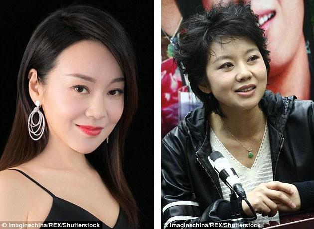 Diêm Ni trong bức ảnh chụp mới đây tại sự kiện (47 tuổi - trái) và một bức ảnh khác chụp năm 2007 (36 tuổi - phải). Dường như cô đang đi ngược quy luật của thời gian khi càng lúc càng trẻ ra.