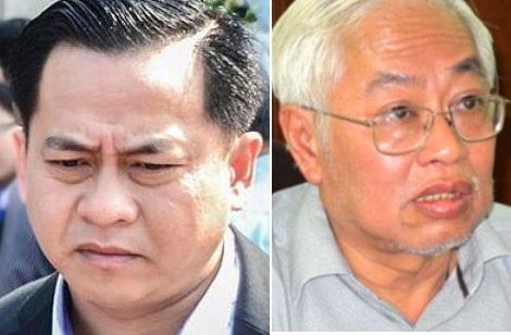 Bị can Vũ nhôm (trái) và Trần Phương Bình.