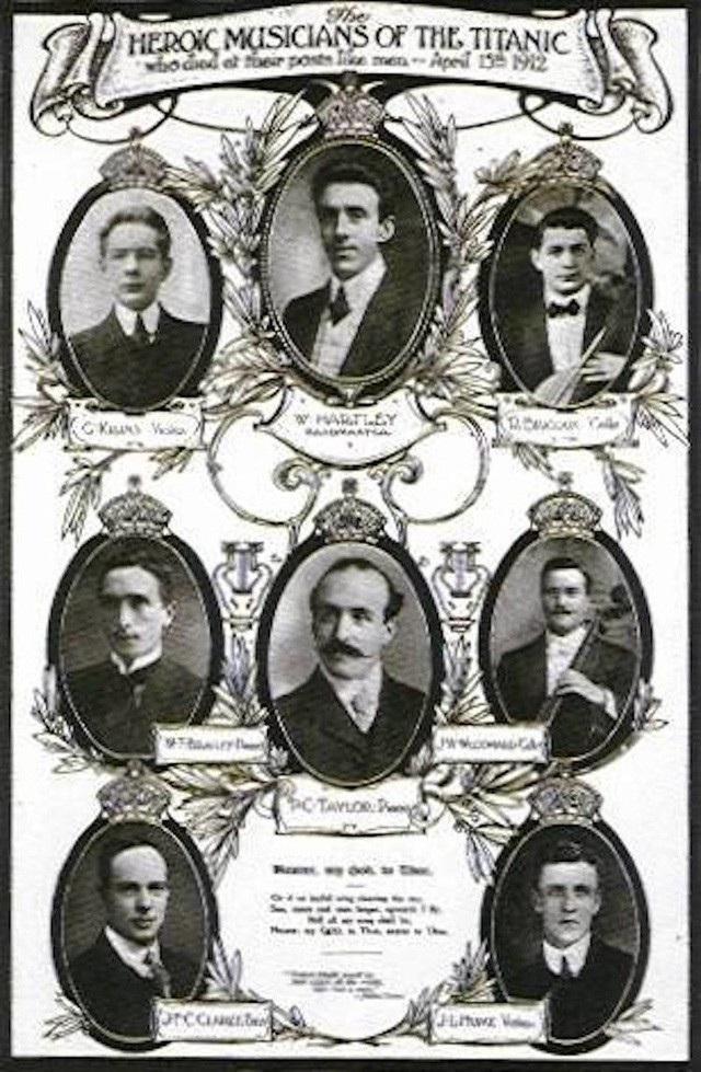 Chân dung các thành viên trong dàn nhạc phục vụ trên tàu Titanic