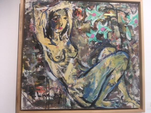 Thiếu nữ khoả thân 7 vẽ năm 1987 trên chất liệu sơn dầu trên toan.