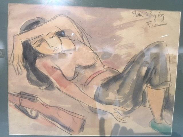 Ngủ vùi sau trực chiến vẽ năm 1969 trên chất liệu sơn dầu trên giấy.