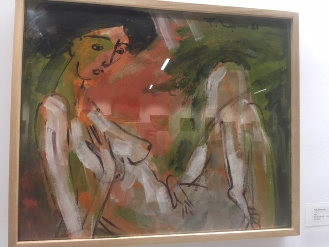 Thiếu nữ khoả thân 1 vẽ năm 1981 trên chất liệu bột màu trên giấy.