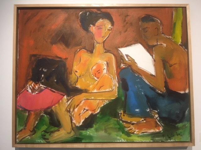 Gia đình văn hoá vẽ năm 2011 trên chất liệu sơn dầu trên toan.