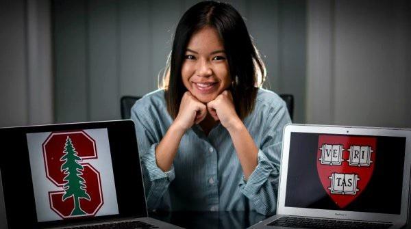 Nữ sinh Xialene Chang (18 tuổi) giành tấm vé vào hai trường đại học danh giá nhất thế giới - Đại học Harvard và Stanford.