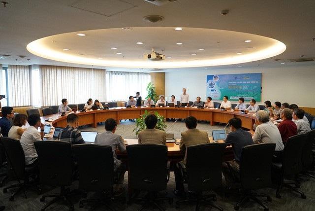 Toàn cảnh buổi chấm chung khảo Giải thưởng Nhân tài Đất Việt 2017.