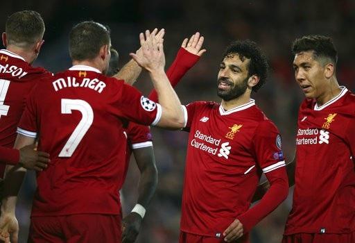 Liverpool thắng tưng bừng 5-2 ở lượt đi