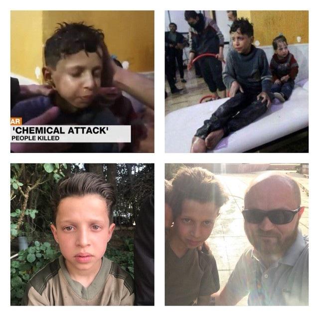 Cậu bé Hassan Diab - nhân chứng của vụ việc (Ảnh: Twitter)