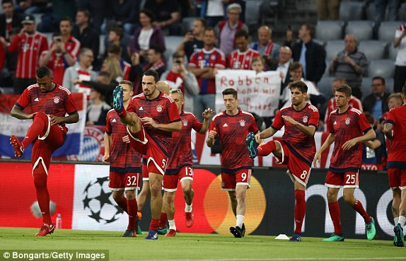 Bayern Munich tung ra sân đội hình tấn công khi đối đầu Real Madrid