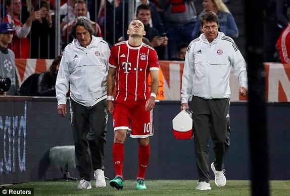 Mất Robben sẽ khiến sức mạnh bên cánh phải của Bayern Munich giảm đi