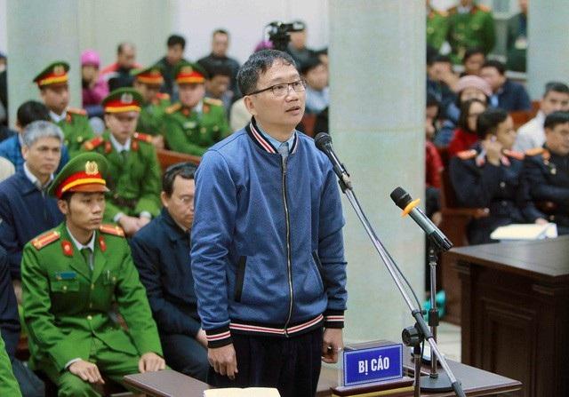 Bị cáo Trịnh Xuân Thanh tại phiên tòa sơ thẩm.