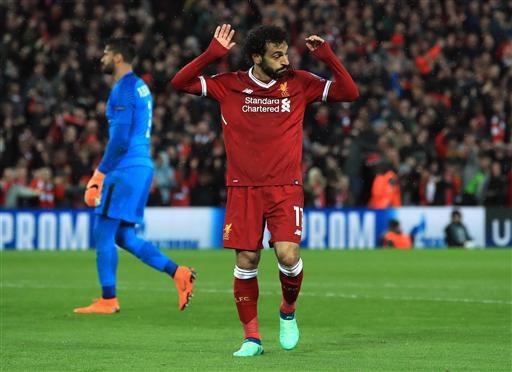 Mohamed Salah tỏa sáng rực rỡ trong trận đấu với AS Roma