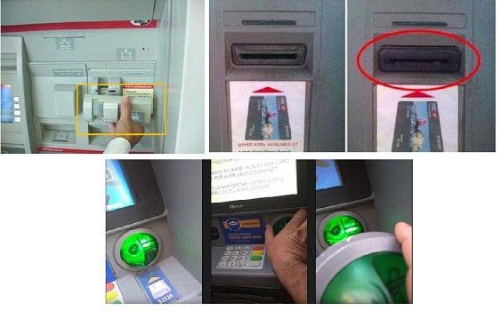 Kiểm tra xem các vị trí gắn thẻ có sự bất thường không trước khi đưa thẻ vào