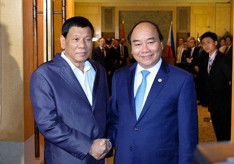 Thủ tướng Nguyễn Xuân Phúc và Tổng thống Philippines Duterte
