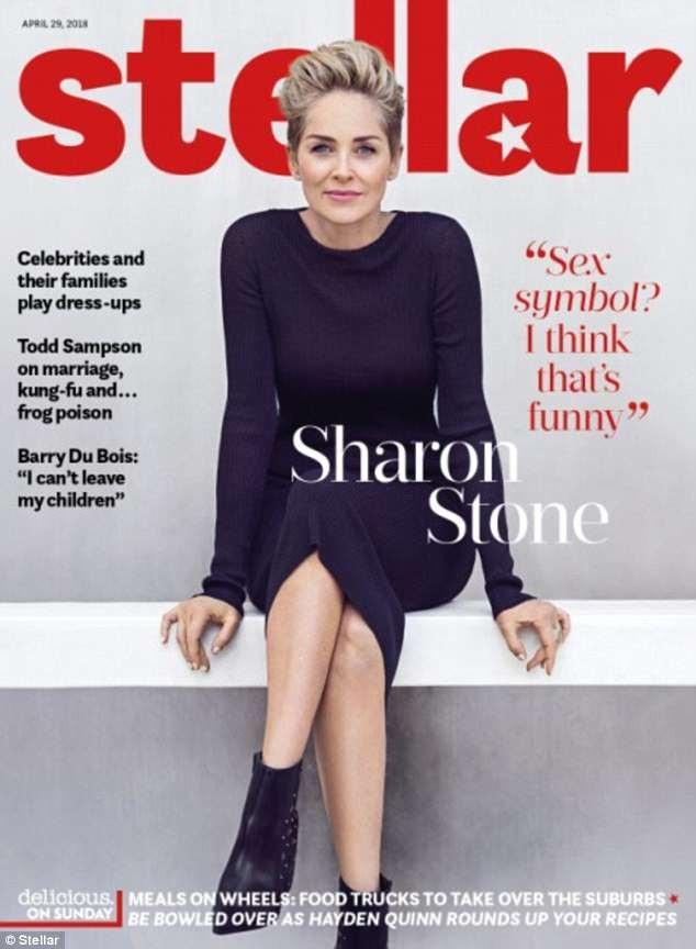 Sharon Stone tái xuất trẻ trung trên tạp chí Stellar số mới nhất