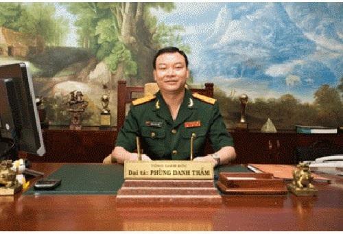 Đại tá Phùng Danh Thắm, Tổng Giám đốc Công ty Thái Sơn.
